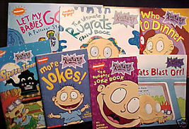 7)Rugrats Joke Books;Ultimate Fan Book;Turkey;Passover;Space Invaders;Blast Off! - $19.99
