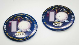 "WALT DISNEY'S EPCOT CENTER 10-YEAR ANNIVERSARY 2.5"" COLLECTORS PINBACK LOT - $4.05"