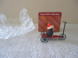 """Vintage Avon Gift Collection Jolly Penguin Scooter Ornament """" BEAUTIFUL ... - $12.19"""