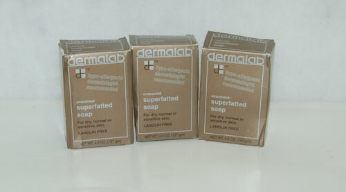 3 Bars Dermalab Hypo Allergenic Superfatted Soap Boxed