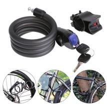 Anti Theft Bike Lock Mountain Road Bicycle Steel Lock Cable Bicycle Lock... - $20.90
