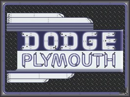 Dodge Plymouth Dealer Marquee Neon Style Printed Banner Sign Remake Art 4' X 3' - $53.96