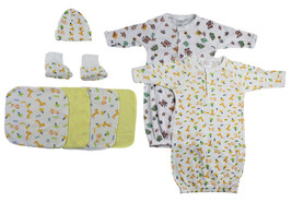 Bambini Gowns, Cap Booties and Washcloths - 8 Pc Set - $17.90