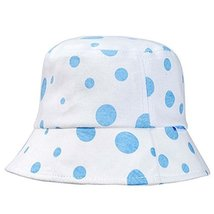Blue Dots Sun-resistant Pure Cotton Comfortable Ventilate Baby Cap Infant Hat