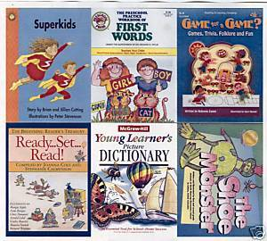 (6)PreS-K-READING;1st WORDS;PICTURE DICTIONARY;K-4 GAMES