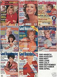 7 GOOD HOUSEKEEPING-1993-96-DECOR,FOOD,LOVE,FASHION,MEN