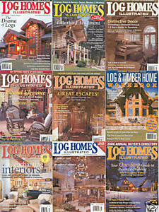 9)LOG HOMES ILL;2006ANNUAL GUIDE; 2005LOG&TIMBER WORKBK