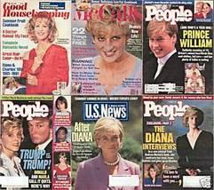 6)PRINCESS DIANA MAGAZINES-GH,PEOPLE,McCALL'S,1991-1997 - $24.99