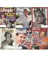 6) PRINCESS DIANA MAGAZINES-GH,PEOPLE,TIME 1996-1998 - $24.99