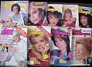 9 ISSUES-GOOD HOUSEKEEPING-JAN-OCT.1986-SOPHIA,LIZ,KATE