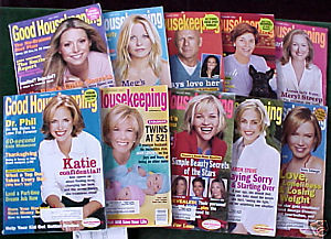 10 ISSUES-GOOD HOUSEKEEPING-JAN-NOV 2003-RENEE,BRUCE,M