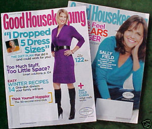 2 ISSUES-GOOD HOUSEKEEPING-JAN & MARCH 2009-SALLY FIELD