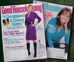 2 ISSUES-GOOD HOUSEKEEPING-JAN & MARCH 2009-SALLY FIELD - $4.97
