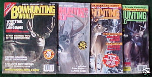 BOWHUNTING WORLD-6 ISSUES-1991-1993DEER,BEAR,ELK,TURKEY