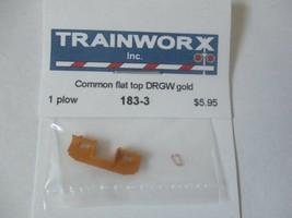 Trainworx Stock #183-3 Snowplow Common Flat Top DRGW Gold N-Scale image 1
