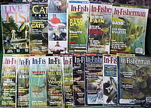 15 IN-FISHERMAN ISSUES 1998-2003+CATFISH,FISHING FACTS