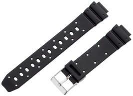 Voguestrap TX14G12 14mm Resin Black Watch Strap - $21.99