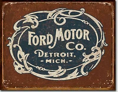 Ford Motor Co. Detroit Mich.  Metal Sign Tin New Vintage Style USA #1707