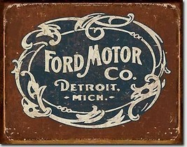 Ford Motor Co. Detroit Mich.  Metal Sign Tin New Vintage Style USA #1707 - $10.29