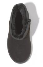 Cat & Jack Toddler Boys' Black Faux Leather Fur Arias Winter Zipper Ankle Boots image 3