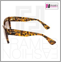 MIU MIU RASOIR 11O Square Sunglasses MAN-0A7 Caramel Marble Sunglasses MU11OS image 2
