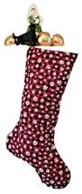 Paw Print Christmas Stockings, Red black buffalo plaid, Dog Lined Xmas S... - $17.00