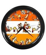 New Custom Black Wall Clock Calvin and Hobbes - $16.50