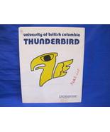 1974 Hockey Program UBC Thunderbirds Calgary Dinosaurs Vintage Collector  - $5.99