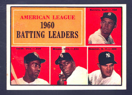 1961 Topps #42 AL Batting Ldrs (Runnels/Smith/Minoso/Skowron) Ex/Mt - $5.48