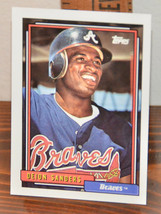 New Mint Topps trading card Baseball card 1992 645 Deion Sanders braves - $1.48