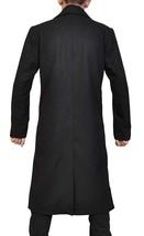 Mens Justified Raylan Givens Timothy Olyphant Long Length Black Cotton Coat image 4