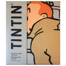 Tintin & Haddock single duvet cover set with square pillow image 2