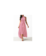 Women's Belted Pink High Low Dress and Crop Cardigan Size M NEW - $19.79