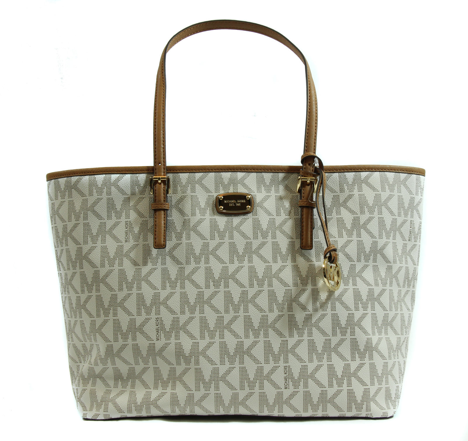 fdf1846eddf6 S l1600. S l1600. NWT MICHAEL Michael Kors Jet Set Travel Large Carryall Tote  Bag