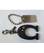 Coach Authentic Key Chain & Key Tag Luggage Tag Accessory Metal Leather - $100.43