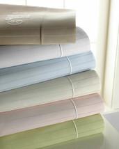 Sferra Marcus Striped Taupe King Sheet Set 4PC Neiman Cotton Sateen 400TC NEW - $246.02