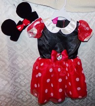 Disney Minnie Mouse Costume New Baby Toddler Infant 9 - 12 mos Dress Headband - $22.22