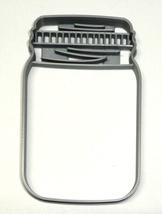Mason Jar Detailed Lid Medium Size Cookie Cutter Baking Tool USA PR3437 - $2.99
