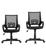 Pemberly Row Adjustable Mesh Office Swivel Desk Chair With Armrests (Set... - $203.99