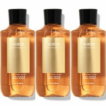 3 Pc Bath & Body Works Men's Collection Suede Hair & Body Wash Set New - $29.91