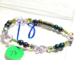 Beaded Bracelet Magnetic Hematite Clasp Single Strand   7 Inch   (MAG-018) image 2