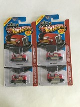 Lot of 4 - Hot Wheels HW Racing BUMP AROUND RED C - $3.95