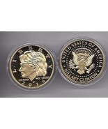 HILLARY CLINTON IN GOD WE TRUST COMMEMORATIVE GOLD CHALLENGE COIN - $12.34