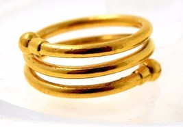22K YELLOW GOLD ELEGANT RING UNIQUE DESIGN AUTHENTIC HANDMADE RING VALEN... - $385.10