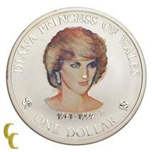 1997 Diana Princess Of Wales 1 oz Cook Îles Argent Dollar Custom Peint - $48.23