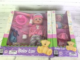 Uneeda Baby Luv Two Baby Doll Big and Mini Gift Set With Clothes and Accessories - $34.64