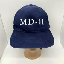VTG Boeing McDonell Douglas MD-11 Airplane Baseball Cap Dad Hat Navy Str... - $14.80