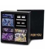 ROYWEL Men's Classic Premium Gift Tie Set Stripe Jacquard Woven Silk Nec... - $32.85
