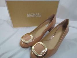 NWB Michael Kors Pauline Mid Pump Dark Nude Patent 075M - $129.19