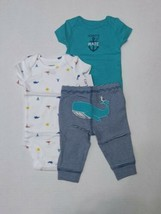 Carter's 3 Piece Set for Boys Mommy's 1st Mate Whale Newborn 3 6 12 Months - $13.95